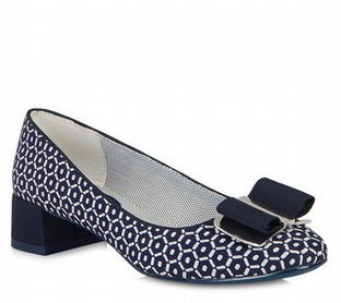 Ruby Shoo June (Navy/White) Shoes